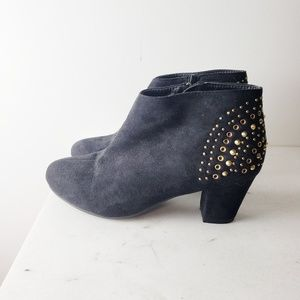 Lane Bryant Gold Studded Ankle Boots Size 9w